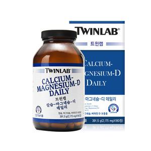 트윈랩 칼슘 마그네슘 디 데일리 180 정 뼈건강 대용량 칼슘 비타민D 미국비타민 정품