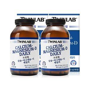 트윈랩 칼슘 마그네슘 디 데일리 2병 180정 미국비타민 칼슘 D3 정품