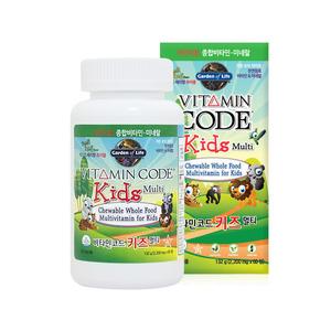 가든오브라이프 비타민코드 키즈 멀티/ 천연원료 종합 비타민 1병